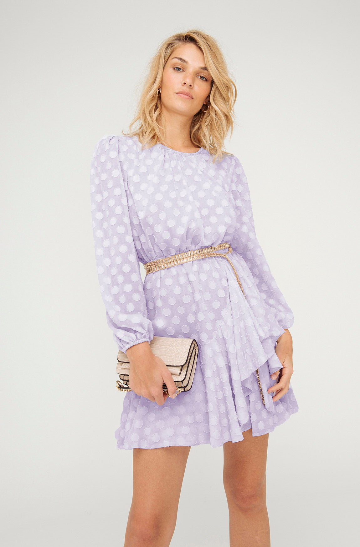 HIGH TEA LILAC MINI DRESS