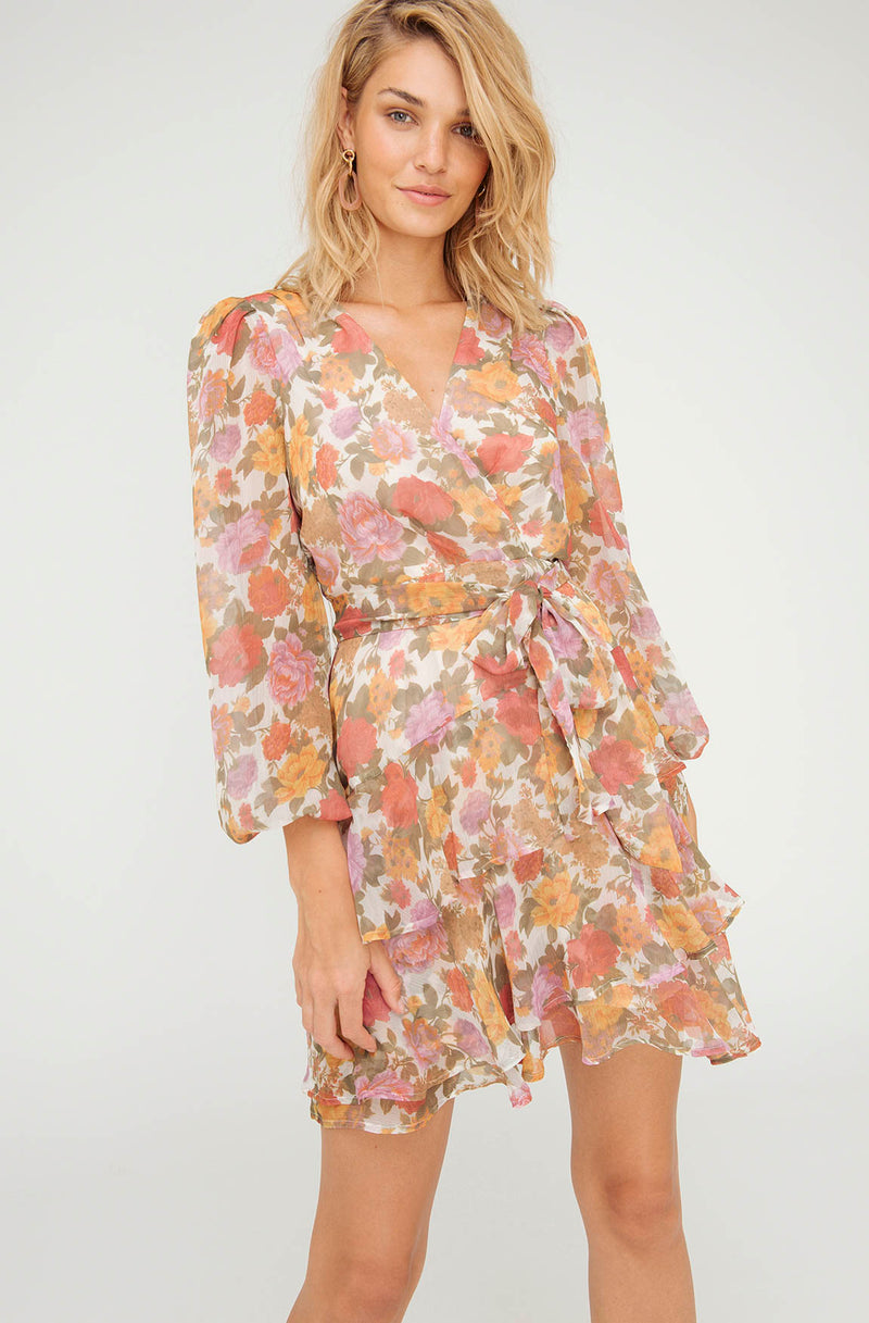 LUNA FLORAL MINI DRESS