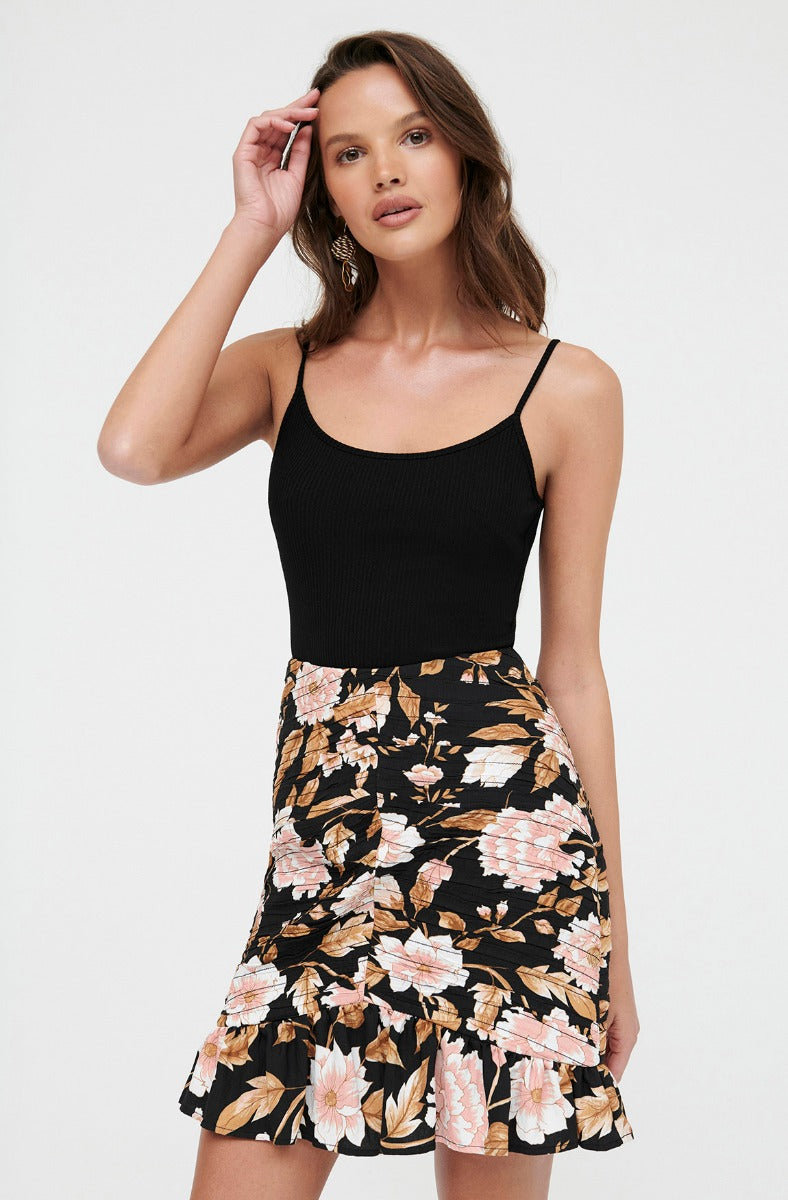 TRUDY FLORAL SKIRT
