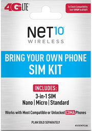 Net10 - Keep Your Own Phone Sim Card Kit