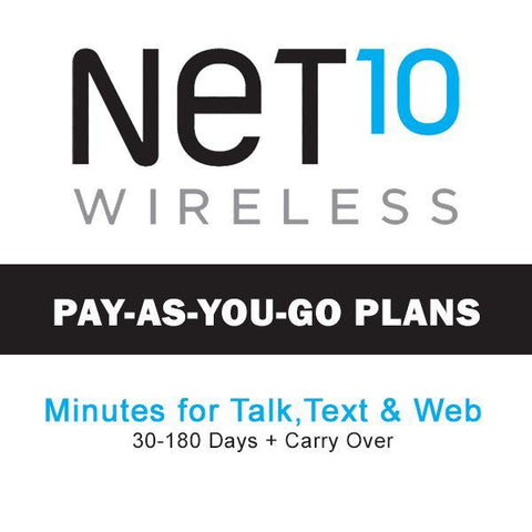 Net10 Wireless Pay As You Go Plan Refill