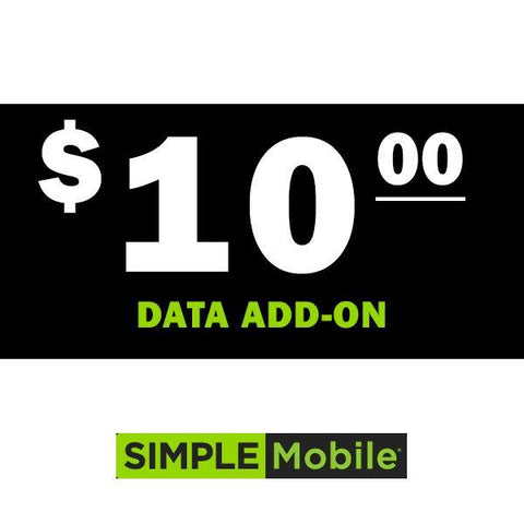 Simple Mobile Data Add-On Plans