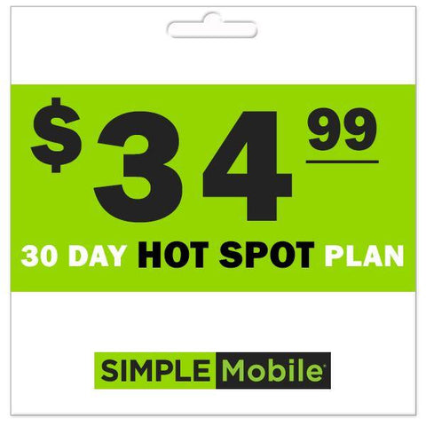 Simple Mobile 30-Day Hotspot Plans