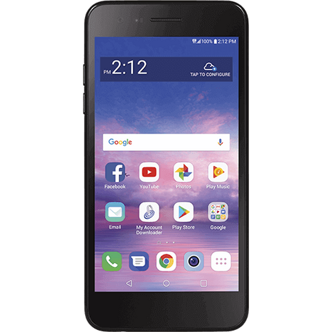 LG Rebel 4 - Simple Mobile - Black