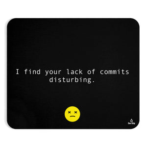 I find your lack of commits disturbing - Mousepad