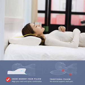 Stamp - X Neck Relief Pillow