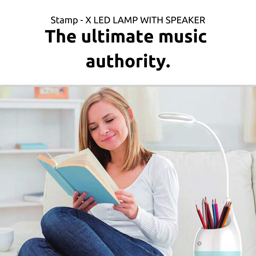 Stamp - X LED Lamp With Speaker