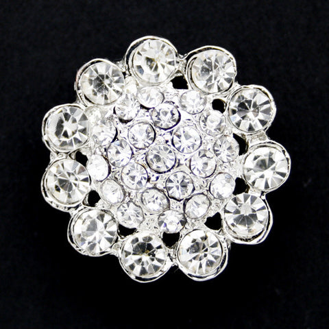 #0044 Diamonte encrusted shank button 22mm