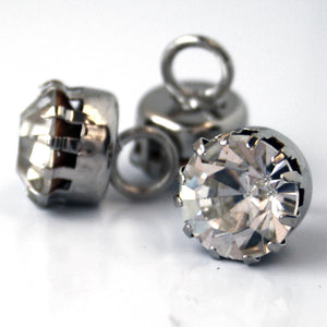 #0059 Claw diamonte shank button 10mm