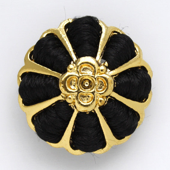 #0094 Weaved metal flower shank button 30mm