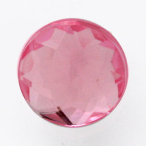 #0106 Single pink stone shank button 9mm