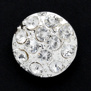 #0123 Diamonte encrusted shank button 23mm