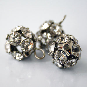 #0164 Ball multi-stone shank button 14mm
