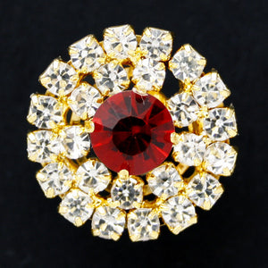 #0169 Round diamonte shank button 20mm