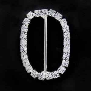 #0222 Crystal buckle 25mm