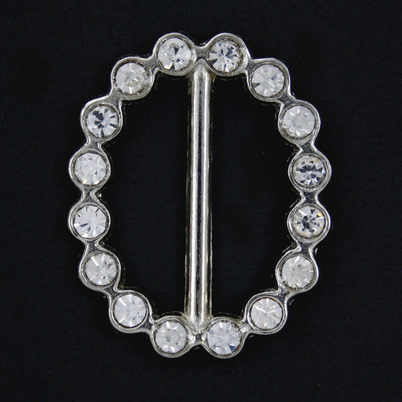 #0224 Oval diamonte buckle 26mm