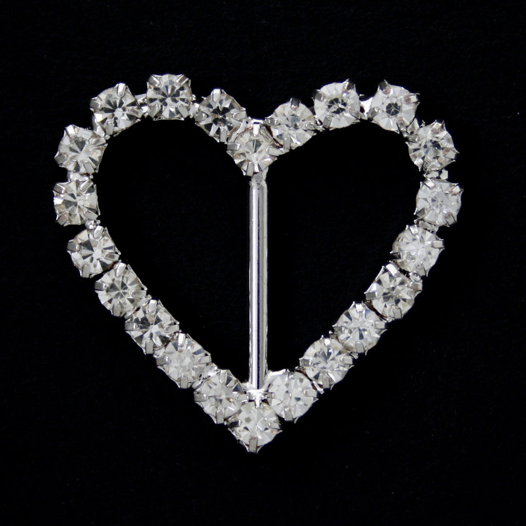 #0225 Heart crystal buckle 16mm