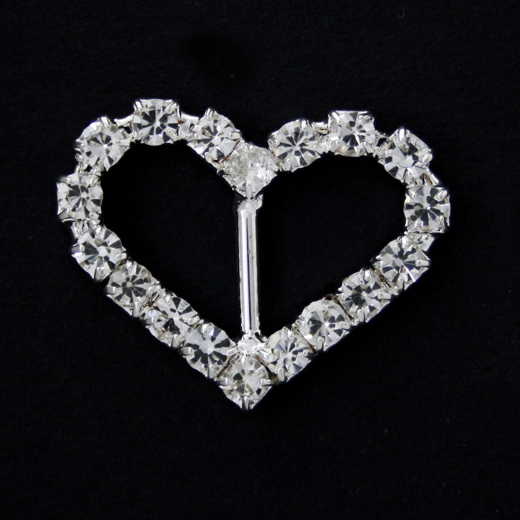 #0226 Heart crystal buckle 10mm
