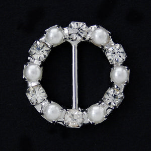 #0227 Round pearls with crystal buckle 10mm