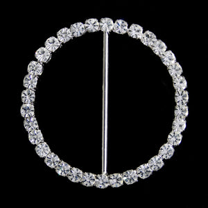 #0234 Round crystal buckle 40mm