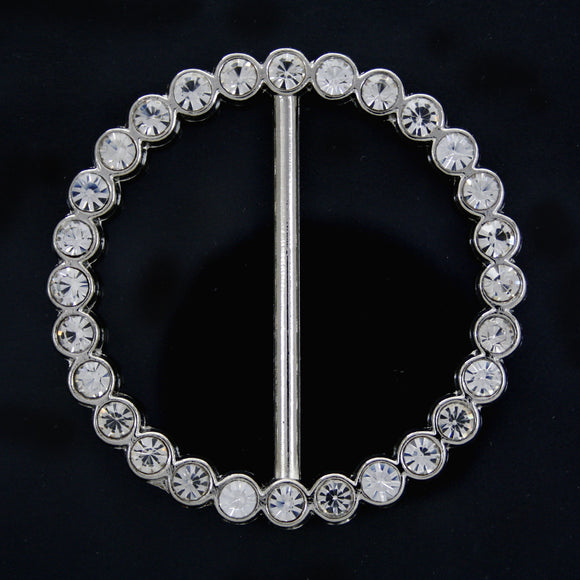 #0235 Round crystal buckle 38mm