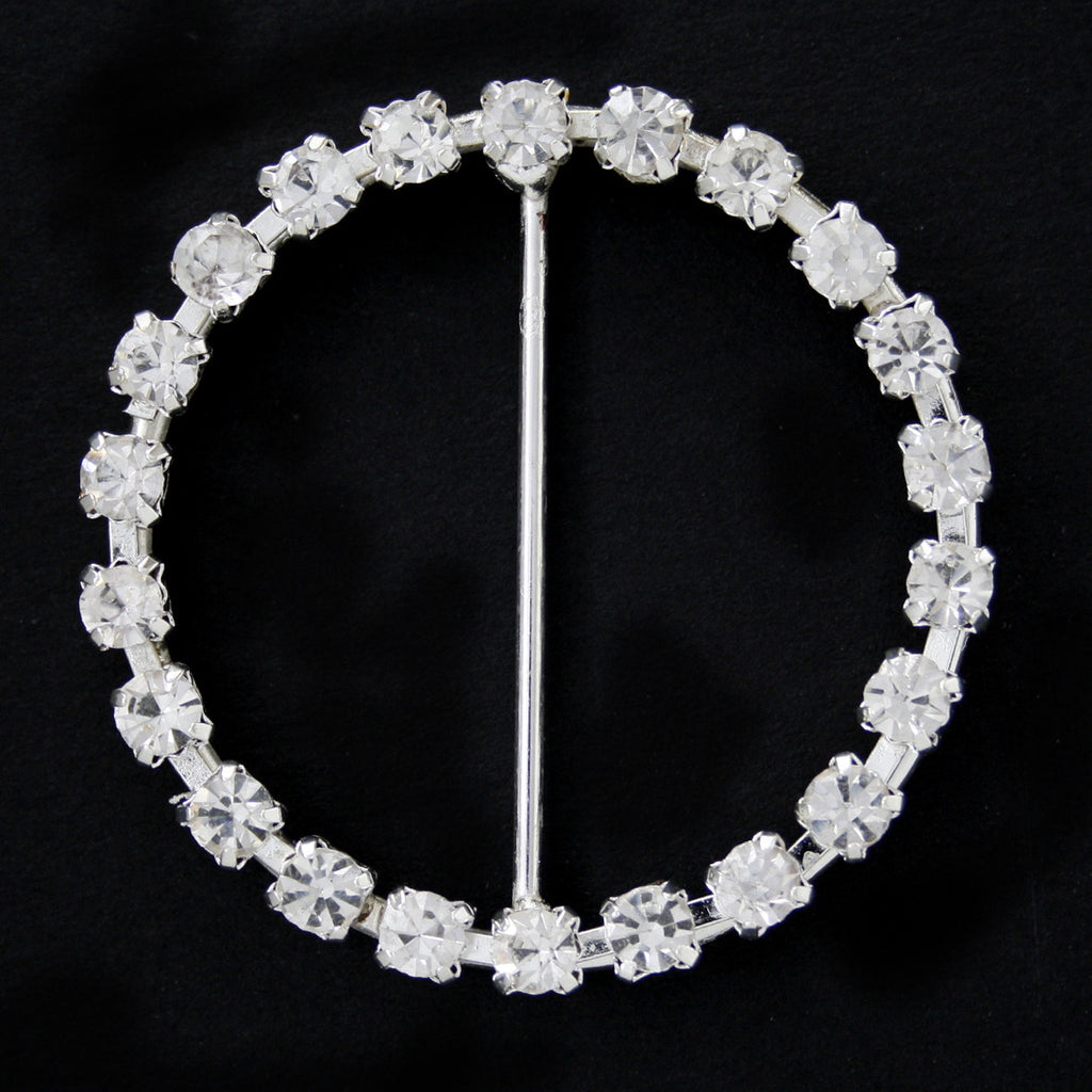 #0236 Round crystal buckle 36mm
