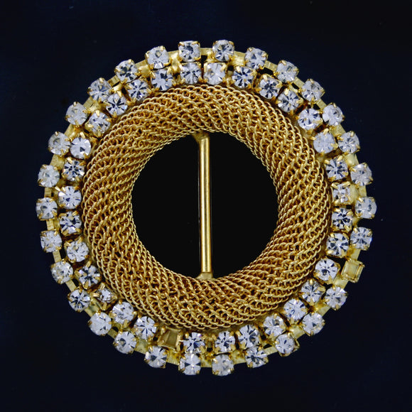 #0239 Round crystal buckle 16mm