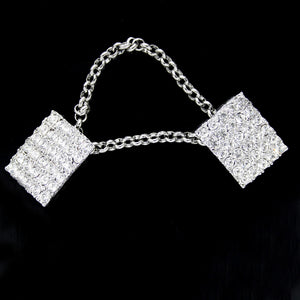 #0256 Crystal chain buttons 25mm