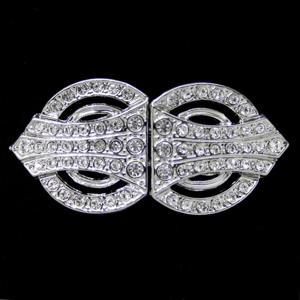 #0259 Decorative Crystal Clasp Nickel 50mm
