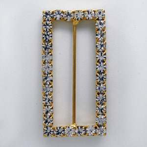 #0264 Rectangle crystal buckle 38mm