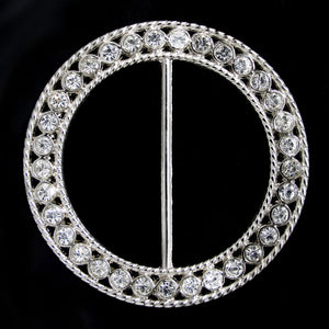 #0266 Rectangle crystal buckle 60mm