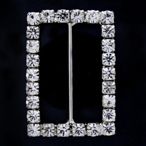 #0268 Rectangle diamonte buckle 40mm