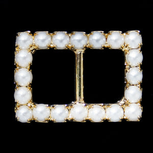 #0275 Square crystal buckle 13mm