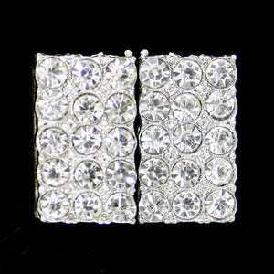 Square crystal clasp 15mm
