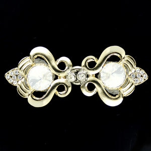 #0287 Decorative crystal clasp gold finish 48mm