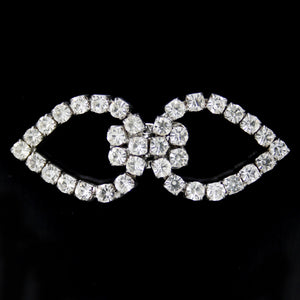 #0288 Decorative crystal clasp nickel 48mm