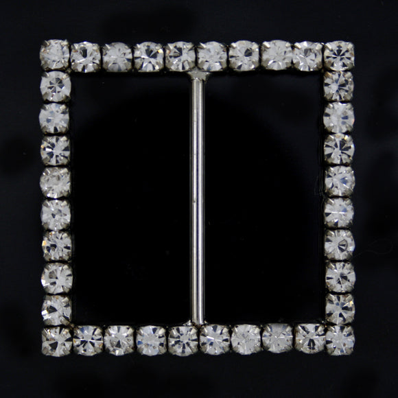 Square crystal buckle 30mm