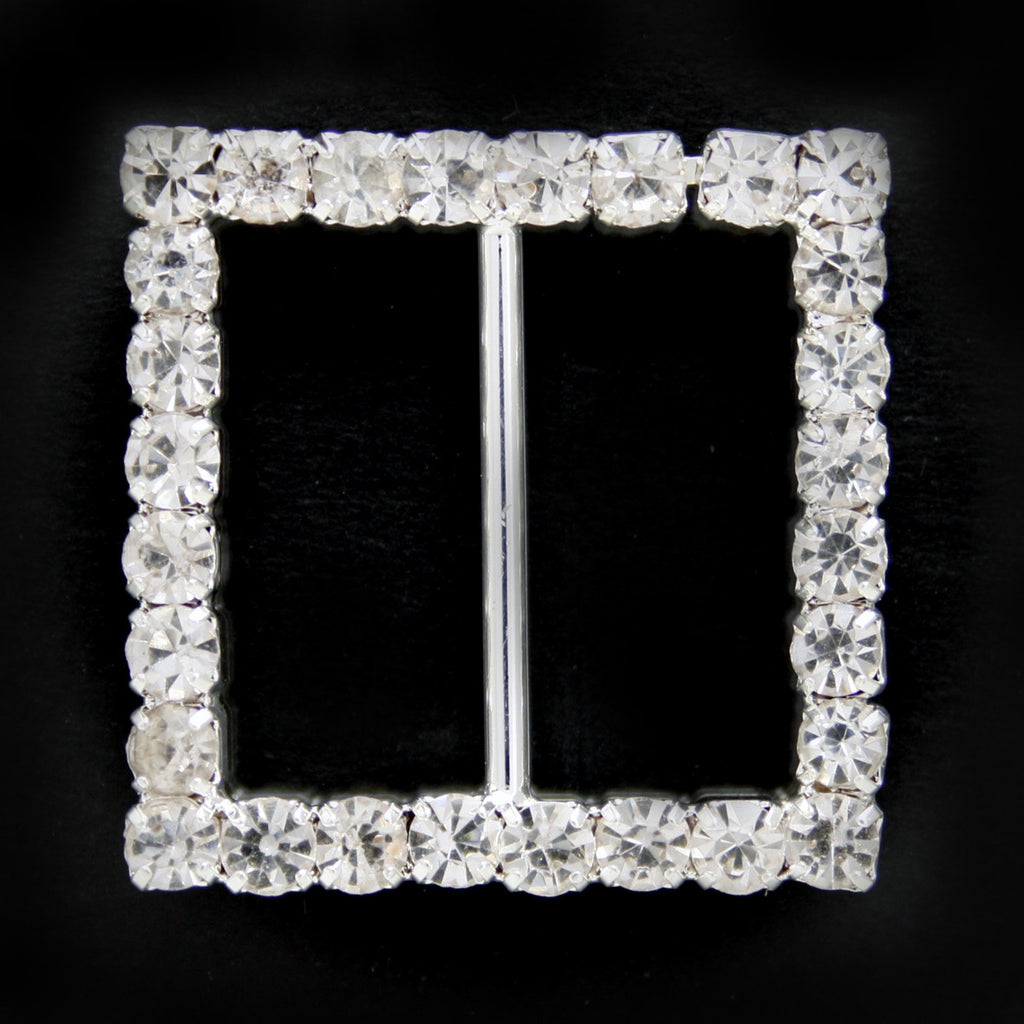 #0303 Square crystal buckle 18mm