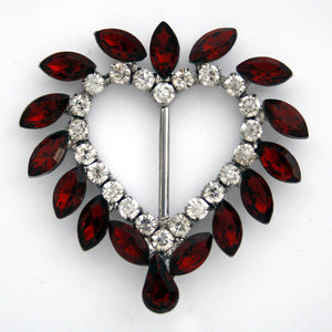 #0436 Stone heart buckle  - 50mm