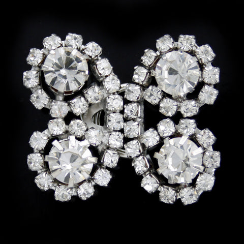 #0460 Butterfly diamonte brooch 28mm