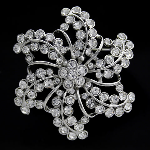 #0463 Diamonte brooch 55mm