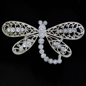 #0477 Crystal butterfly brooch 70mm