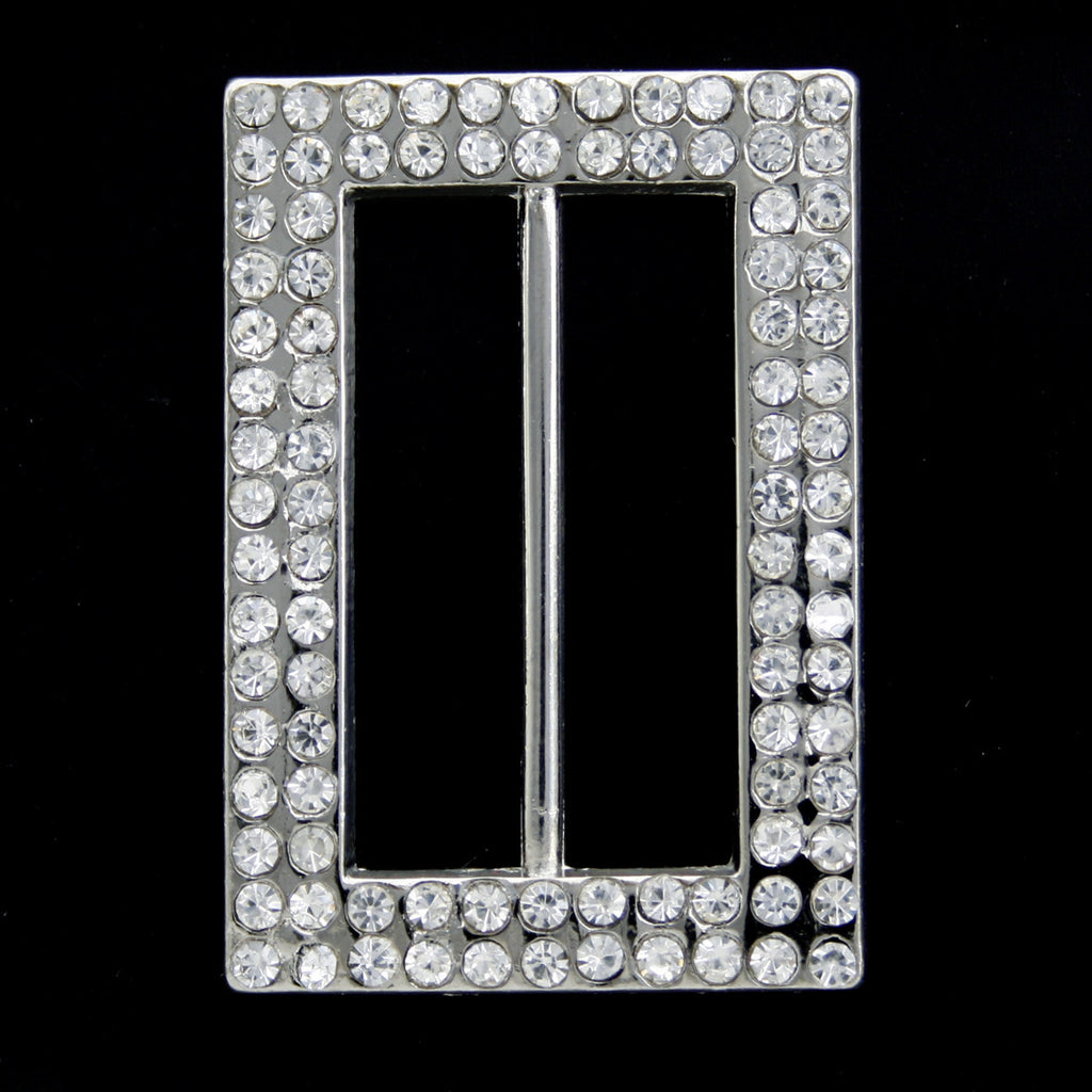 #0484 Diamonte buckle 22mm