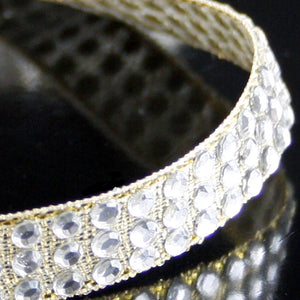 Hot fix diamonte trim gold 10mm
