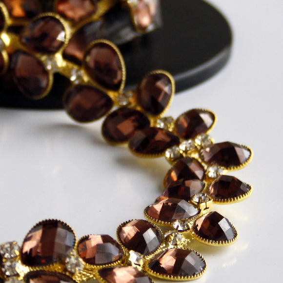 #0561 Gold with crystal and dress stone trim 25mm