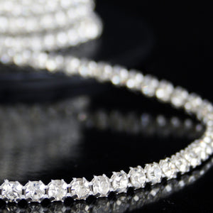 #0604 Single Row Crystal Trim 5mm