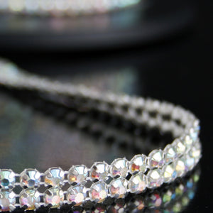 #0614 Double Row AB Crystal Trim 10mm
