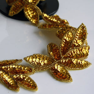 Leaf trim gold 70mm