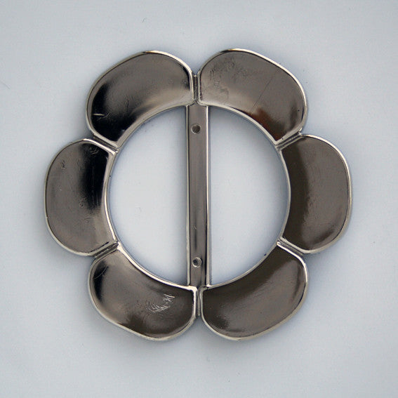 #0726 Gunmetal Flower Buckle 40mm