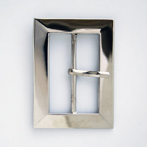 #0734 Nickel Rectangle Buckle 45mm